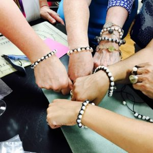Bracelets made at a Maleku Jewelry workshop