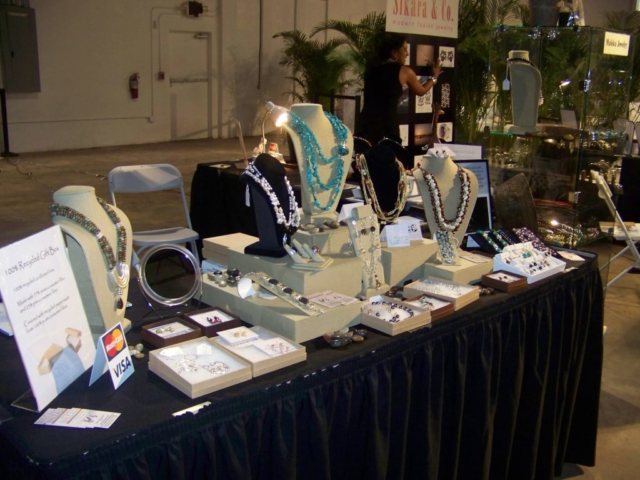 Maleku Jewelry display at Miami Fashion Week