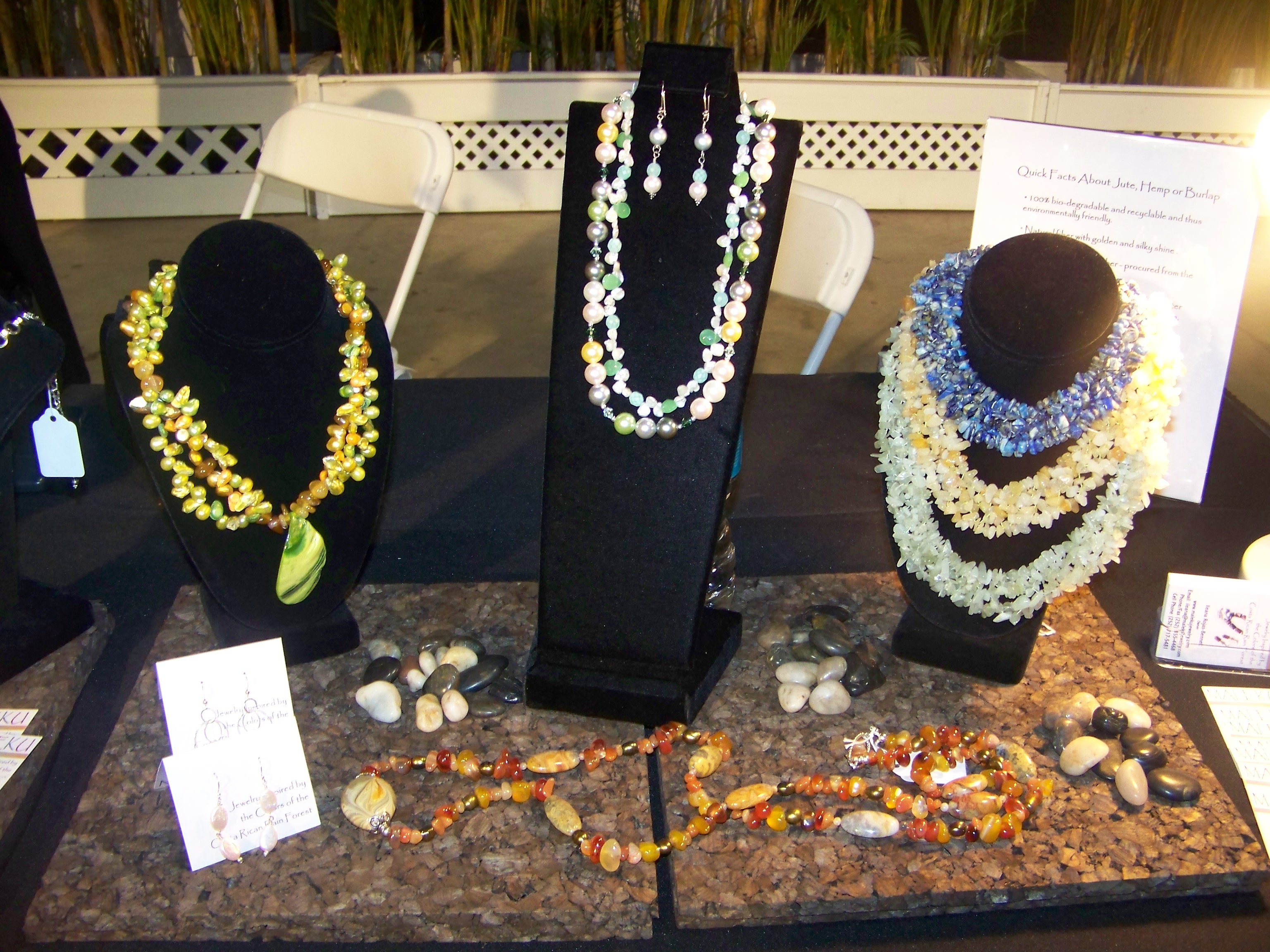 Maleku Jewelry necklaces at Miami Fashion Week