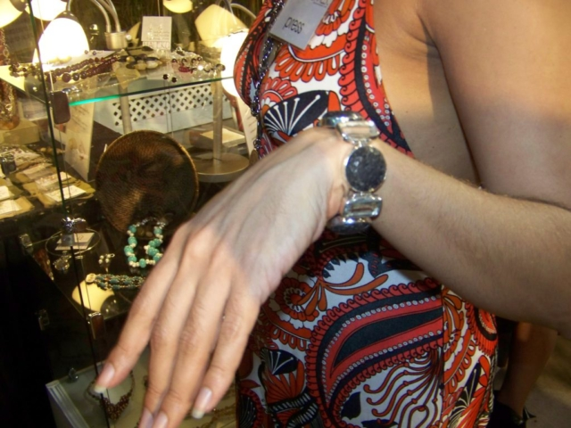 A Maleku Jewelry Bracelet at Miami Fashion Week