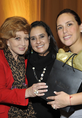 Angelica Vale, Angelica Maria and Ileana Maleku posing at the Latin Grammy Awards