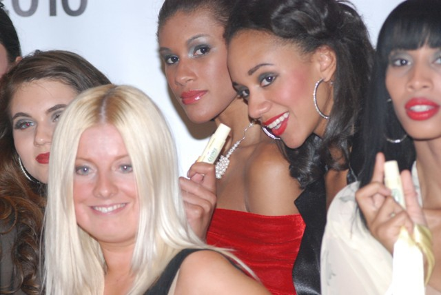 Kerry Bannigan ceo poses for a group photo at Nolcha Fashion Week 2010