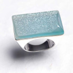 sparkle turquoise silver ring